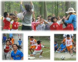 婦幼節前小朋友過了一個健康的運動 競賽活動 ,場中學生競賽的熱烈讓家長看見孩子們展現平時老師教學健康活潑的體能與運動技能。 融入在學生競賽之中,樂支了每位家長。<攝影/賴約翰>